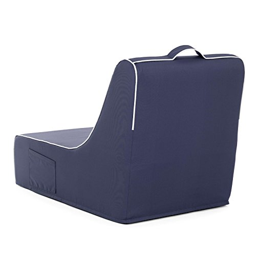 PopLounge Expandable Foam Furniture Coast Lounger, Crown Blue Navy, 23'' x 40'' x 26'' by PopLounge (Image #4)