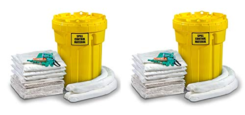 ESP SK-O30 56 Piece 30 Gallons Oil Only Absorbent Ecofriendly Spill Kit, 24 Gallons Absorbency, White (Pack of 2) ()