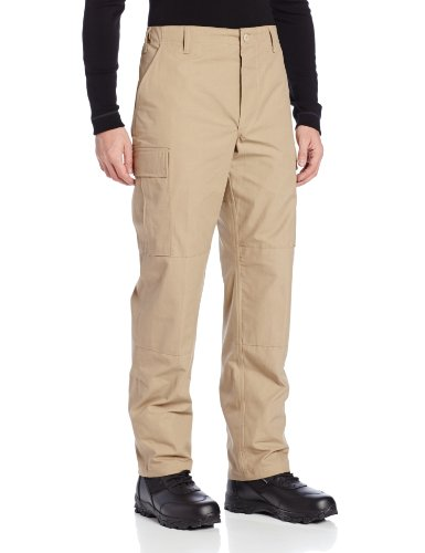 TRU-SPEC Men's Rip Stop BDU Pant - Large Long - Khaki ()