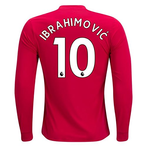 LS IBRAHIMOVIC 10 MANCHESTER UNITED 2017 - 2018 home Long Sleeve jersey Men's Color red Size XL
