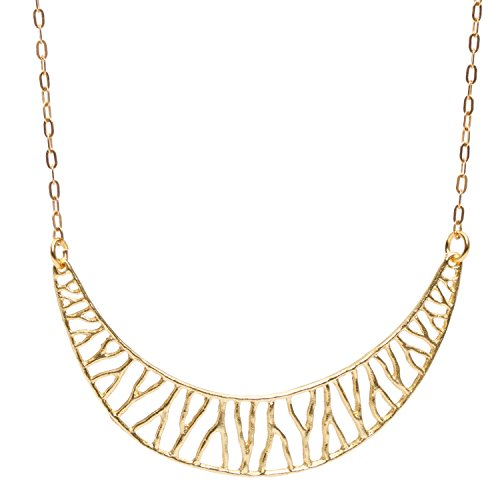 Mercedes Shaffer Coral Branch Collar Necklace (24k Gold-Plated, Small)