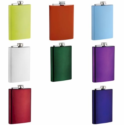 8oz-Stainless-Steel-Hip-Flask-Assorted-Colors