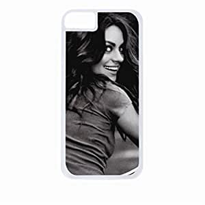 mila kunis bycicle - Hard White Plastic Snap - On Case with Soft Black Rubber Lining-Apple Iphone 5c Only - Great Quality!