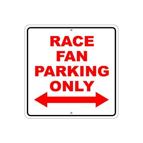 Nascar Parking Sign (Ballkleid Decorative Sign Race Fan Parking Only With Double Arrow Cars Nascar Yard Fence Driveway Garage Street Sign)
