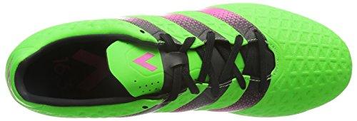 Scarpa Da Calcio Adidas Performance Mens Ace 16.3 Fg / Ag Shock Verde / Rosa Shock / Nucleo Nero