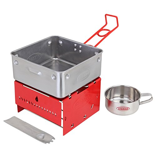 Sterno Camp Stove Kit with Frame and Wind-Shield Panels