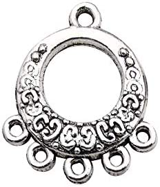 Youdiyla 60pcs Antique Tibetan Silver Earring Chandelier Earring Charms for Jewellery Making Kit for Earring Drop and Charm Pendant Assorted Pack WM268
