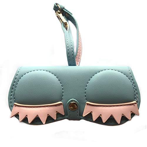 - Longjet Cute Sunglasses Organizer Case Hanging Leather Eyeglasses Bag Ornament Charms for Handbags (Eyelash)
