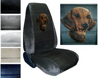 Amazon.com: Seat Cover Connection Dachshund print 2 High Back Bucket