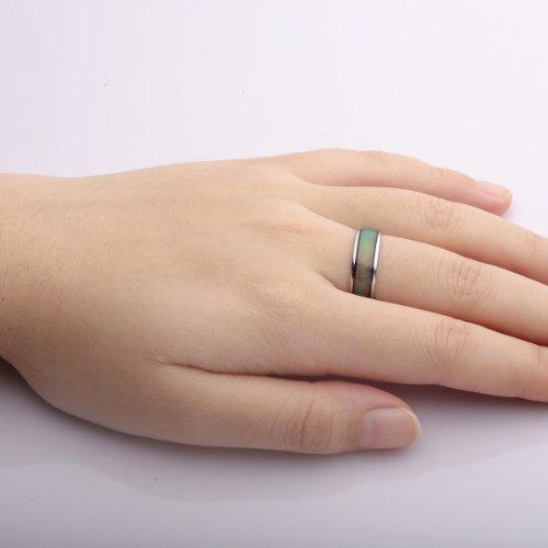 VIKI LYNN- Bague D'humeur pour Femme/Homme/Jeune Fille - Change de Couleur Selon Votre Humeur - Largeur de Surface de Bague 0.6mm
