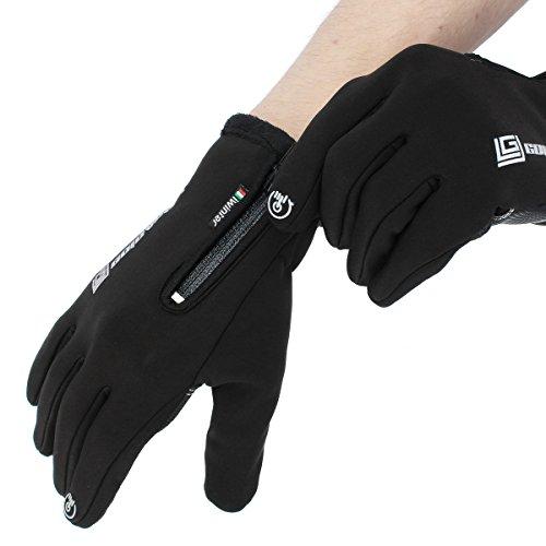 2XL GOZAR Impermeable Guantes De Pantalla T/áctil para Motos Ciclismo Esqu/í Hombres Negro S M L XL 2XL