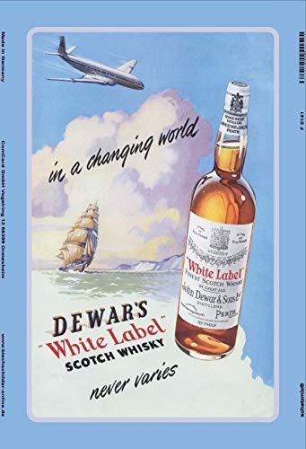 Dewars White Label Scotch Whisky Ship Bidesign Custom Metal Sign 8X12in-Bar  Cafe Restaurant Home Decor