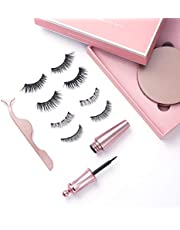 Magnetic Eyeliner with Magnetic Eyelashes Kit False Lashes | 4 Pairs
