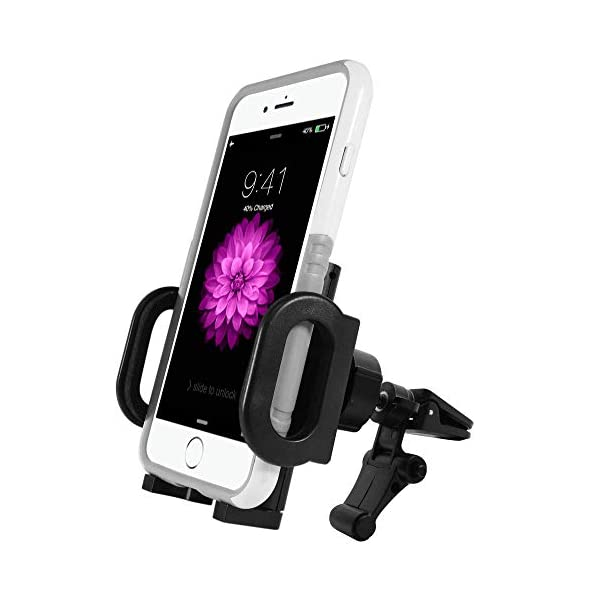 Macally Magnetic Dashboard/Windshield Suction Cup Car Phone Mount Holder with Extendable Telescopic Arm for iPhone X 8 8+ 7 7 Plus 6s Plus 6s 5s, Samsung Galaxy S8 S7 Edge S6 Note 5, etc. (TELEMAG)