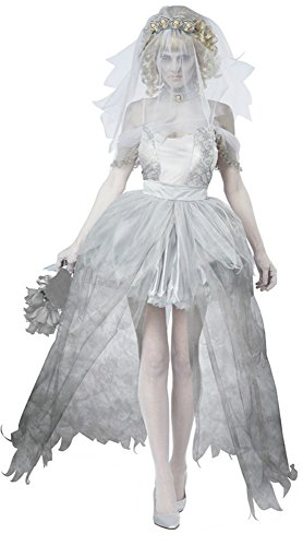 Halloween ghost bride costume vampire bride dress 2845 (Vampire Bride Costumes)