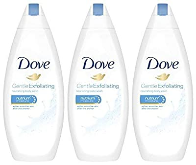 Dove Gentle Exfoliating Body Wash with Nutrium Moisture 16.9 Ounce, Pack of 3