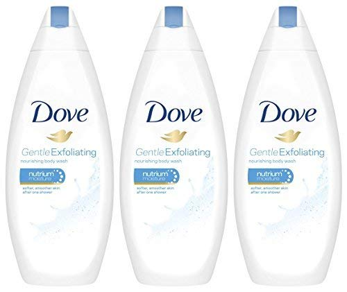 Dove Gentle Exfoliating Body Wash with Nutrium Moisture 16.9 Ounce, Pack of 3 by Dove