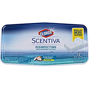 Best Epic Trends 41T1T5U6L5L._SS300_ Clorox Disinfecting Wipes Clorox Scentiva Disinfecting Wet Mopping Pad Refills For Floor Cleaning, Pacific Breeze…