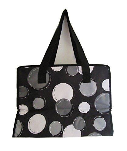 No Logo Market thermal picnic lunch tote bag in Black Happy Dot