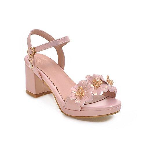 Heels BalaMasa Urethane Lining Sandals ASL04834 Womens Kitten Cold Pink Sandals wTrn6YtTqx