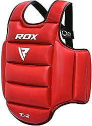 RDX TKD Chest Guard Boxing MMA Body Protector Martial Arts Reversible Rib Shield Armour Taekwondo Training