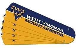 Ceiling Fan Designers 7992-WVU New NCAA WEST VIRGINIA MOUNTAINEERS 42 in. Ceiling Fan Blade Set