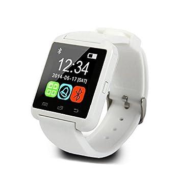 Reloj inteligente, Padgene U8 Bluetooth inteligente reloj de pulsera Pantalla Táctil reloj inteligente teléfono Mate para Android iPhone móvil: Amazon.es: ...