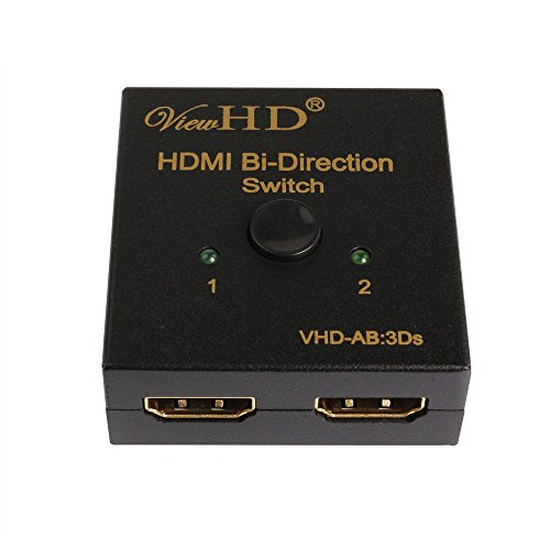 ViewHD AB Bi-Directional 2x1 | 1x2 HDMI Switch | Ultra HD | 4K | 3D | HDMI v1.4 | VHD-AB:3Ds (A/b Ab Switch)