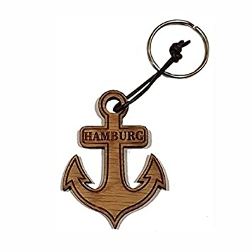 Hamburg Anker 5 X 4 Cm Schlüsselanhänger Aus Eichenholz Geschenk