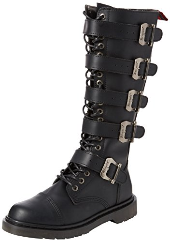 Demonia Men's Defiant-420 Knee High Boot, Black Vegan Leather, 6 M US - 420 Black Leather