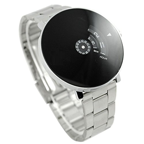 IndiCare Analogue Black Dial with Silver Belt Men's Watch