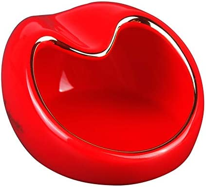 シガー灰皿ファッション形ノンスリップボトムコンパクトポータブル家庭用セラミック葉巻灰皿,赤