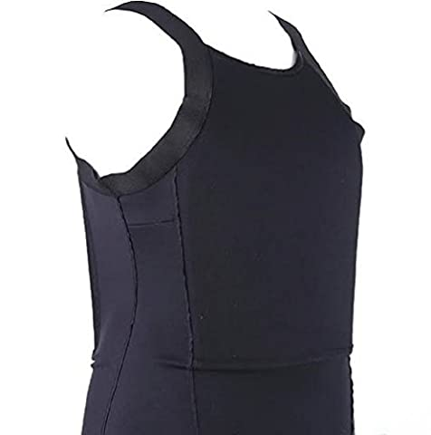 Bulletproof Bullet Resistant T-Shirt, Tank Top Covert Protection NIJ IIIA 3A (Black, Bulletproof Only, - Nij Ballistic Levels