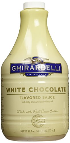 Ghirardelli Chocolate White Chocolate Flavored Sauce, 89.4-Ounce Package Classic White Flavored Sauce