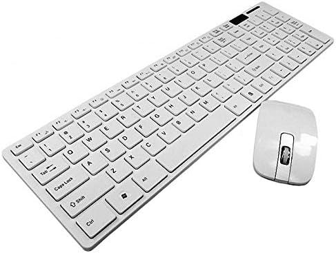 Teclado inalámbrico ultra delgado con teclado inalámbrico ...