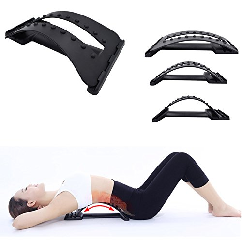 NUMBERNINE,Back Massage Stretcher Stretching Magic Lumbar Support Waist Neck Relax Mate Device Spine Pain Relief Chiropractic,body (Eclipse Club Chair)