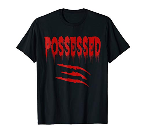 Possessed Evil Spirit Halloween TShirt with Claw Marks for $<!--$14.99-->