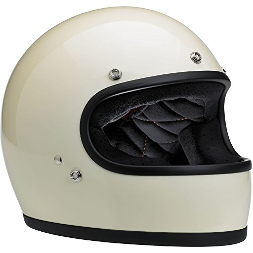 Biltwell Gringo Full Face Helmet (Gloss Vintage White, Medium)
