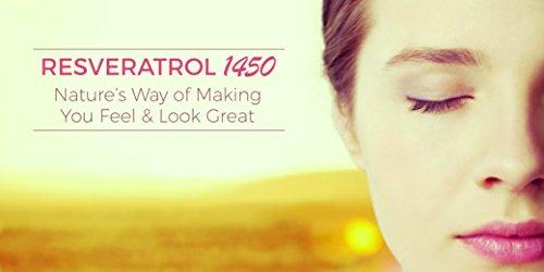 41T1Vrp01KL - RESVERATROL1450-90day Supply, 1450mg per Serving of Potent Antioxidants & Trans-Resveratrol, Promotes Anti-Aging, Cardiovascular Support, Maximum Benefits