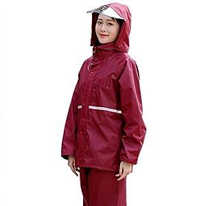 Rainwear Breathable Rainsuit (Rain Jacket and Rain Pants Set) Unisex Adults Waterproof Hooded Raincoats for Outdoor Activities Camping Travel