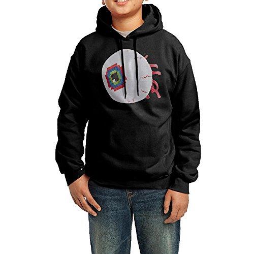 YHTY Youth Boys/Girls Hoodies Eye Of Cthulhu Game Black Size XL
