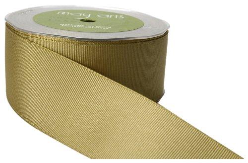 [May Arts 1-1/2-Inch Wide Ribbon, Olive Grosgrain] (Olive Green Grosgrain Ribbon)