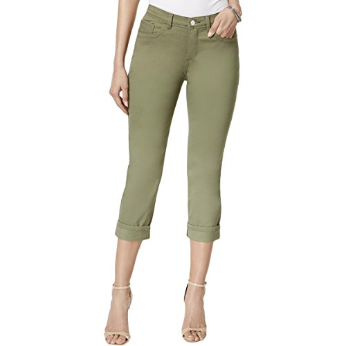 Lee Platinum Label Womens Easy Fit Colored Denim Cropped Jeans Green 8 ()