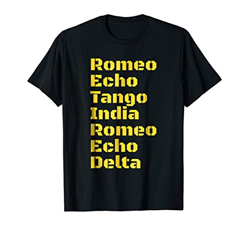 Military Retired T Shirt Phonetic Military Alphabet Gift Tee