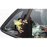 BOBOVIIA Cute Frog Funny Car Stickers Car Decal Sticker Bumper Sticker for Windows,Cars,Trucks,Motorcycle,Wall(Peep Frog)