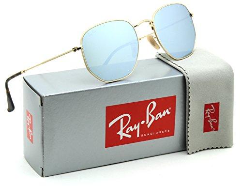 Ray-Ban RB3548N Hexagonal Flat Lenses Unisex Sunglasses 001/30 - 48mm (Ray Ban Hexagonal Sunglasses)