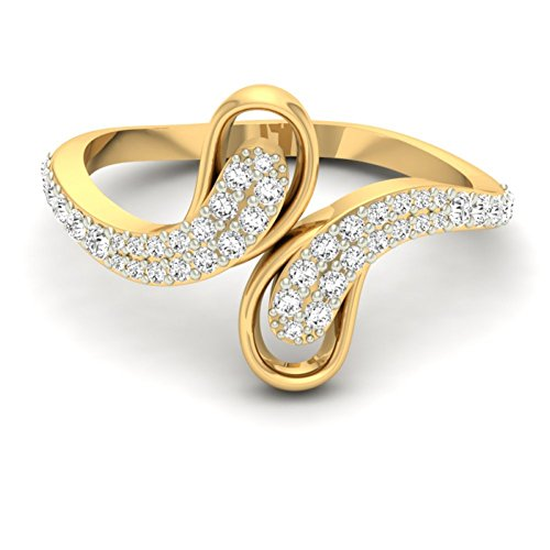 Or jaune 18 K 0,36 CT TW Round-cut-diamond (IJ | SI) en diamant