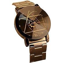 Creazy Fashion Watch Stainless Steel Man Quartz Analog Wrist Watch (Black)