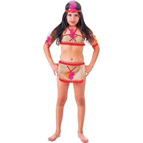 Fantasia Índia Basic Infantil Sulamericana Fantasias P 3/4 Anos