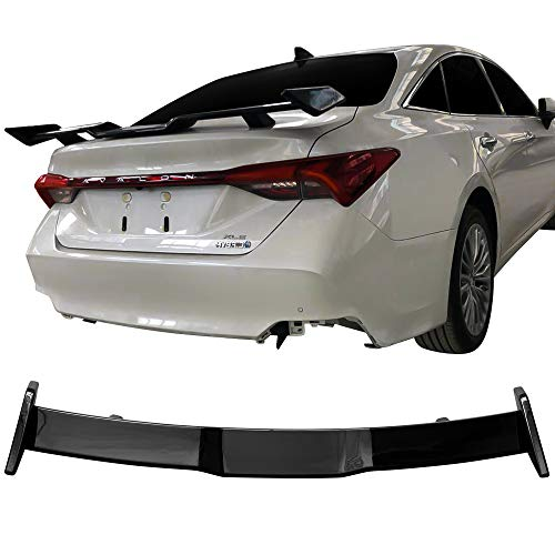 Rear Trunk Spoiler Fits 2019 Toyota Avalon | ABS Gloss Black Rear Wing Lip Spoiler Sporty Protector Add On by IKON MOTORSPORTS